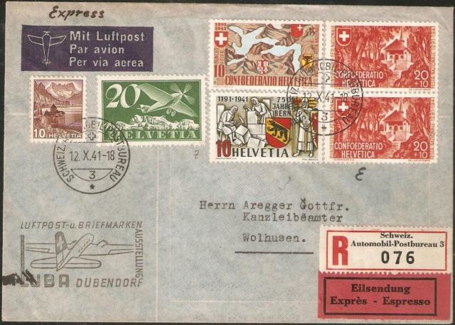 Luftposttarife innerhalb der Schweiz nachschlagen? Einsch10
