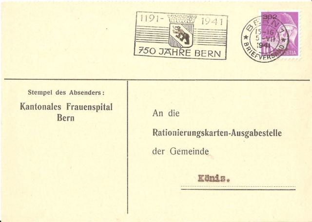 Werbeflaggenstempel 750 Jahre Bern Flagge10