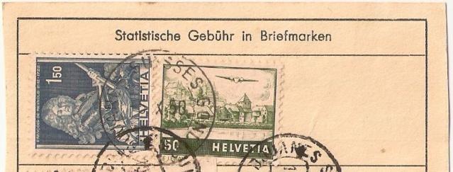 Kantonale und Schweizer Zollstempel Gondo110