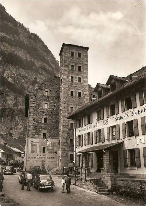 Kantonale und Schweizer Zollstempel Gondo310