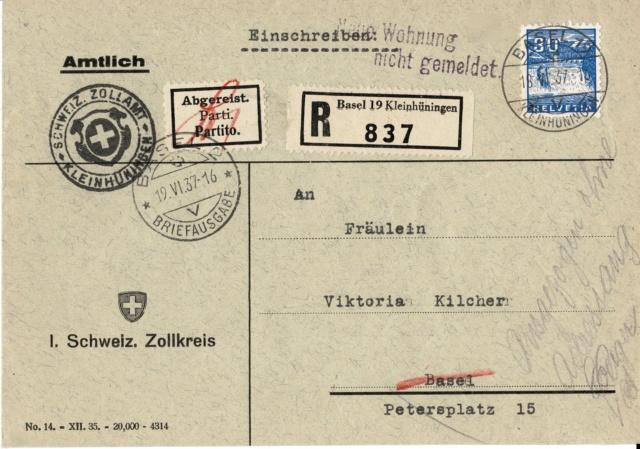 Kantonale und Schweizer Zollstempel Kleinh10