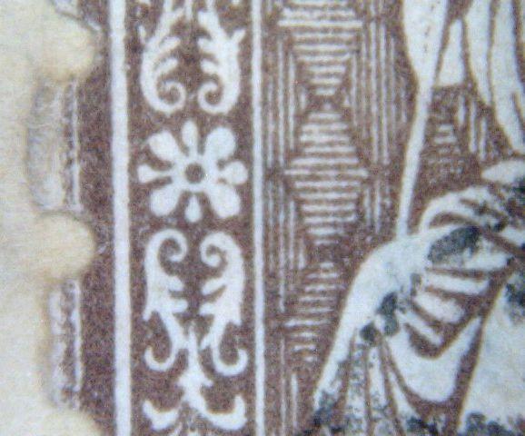 SBK 30 (Mi 22) 5 Rp braun, weisses Papier 1862 Mon_ju10