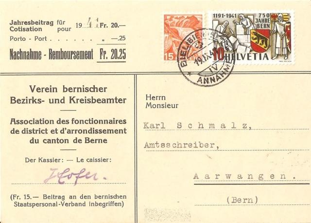 SBK 253  (Mi 398) 750 Jahre Bern Nn10