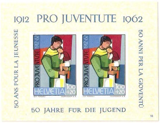 SBK J199 (Mi Bl. 182) Jubiläumsblock 50 Jahre Pro-Juventute-Marken Pj_ver10