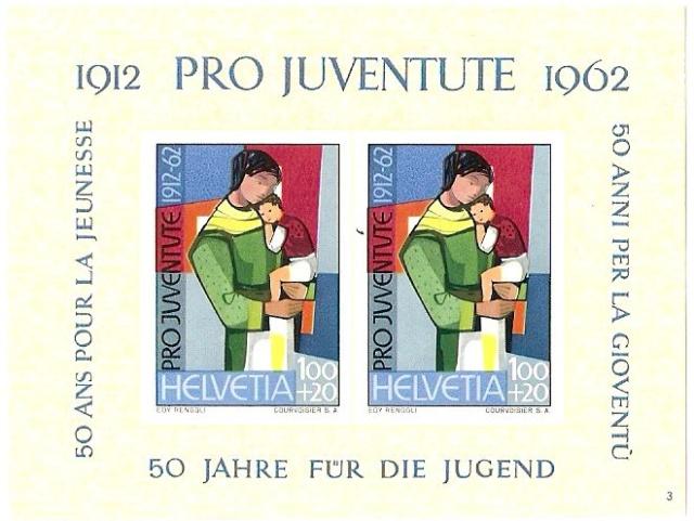 SBK J199 (Mi Bl. 182) Jubiläumsblock 50 Jahre Pro-Juventute-Marken Pj_ver12