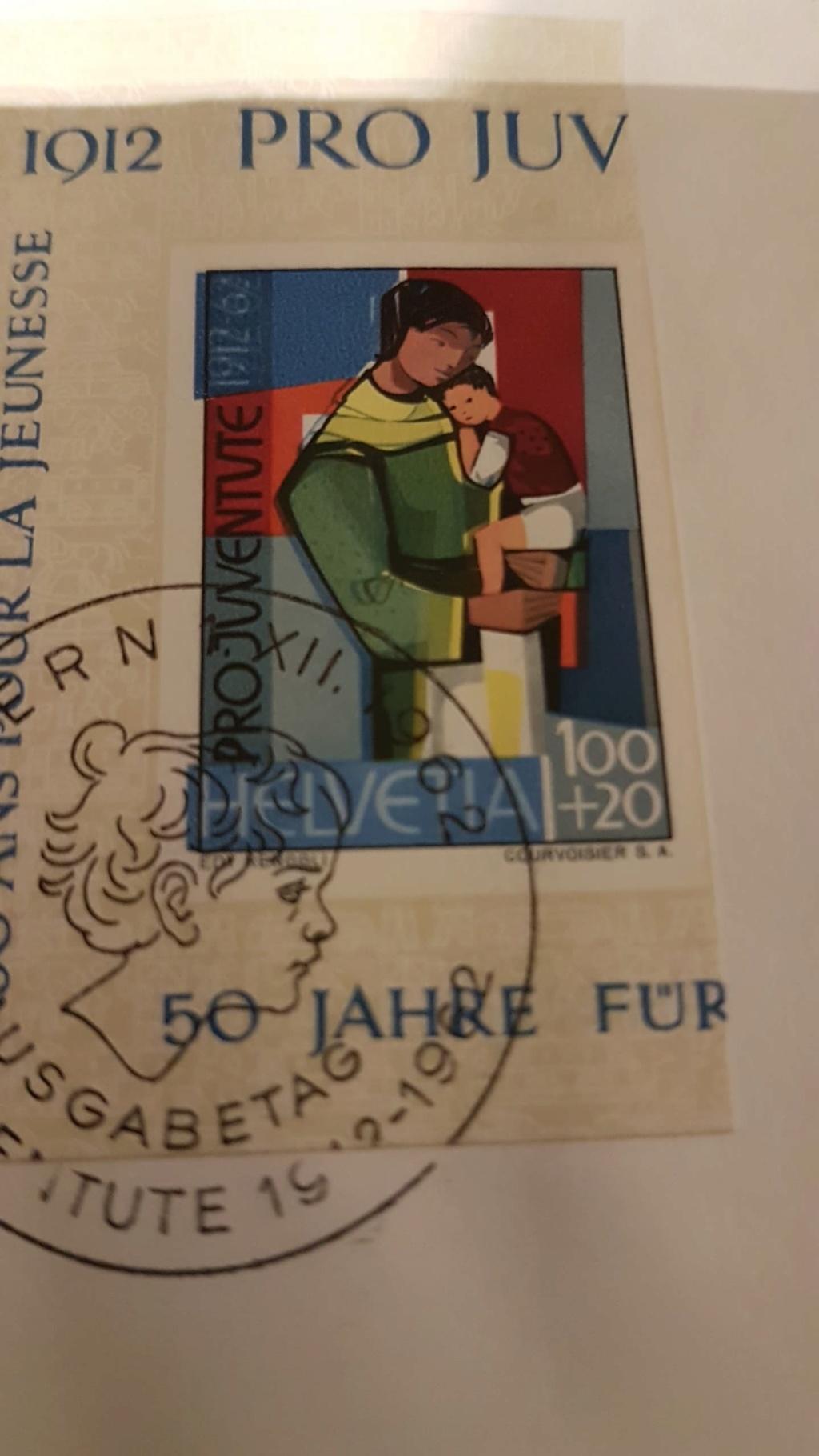 SBK 199 PJ Jubiläumsblock 50 Jahre Pro-Juventute-Marken Receiv10