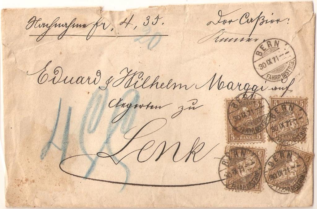 SBK 30, 5 Rp braun, weisses Papier 1862 Sbk30_10