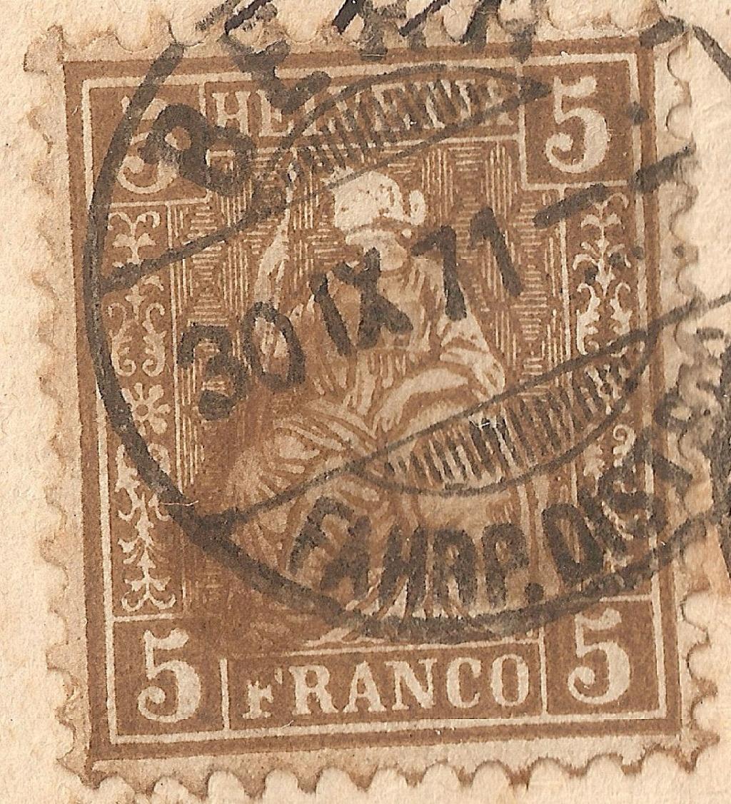 SBK 30 (Mi 22) 5 Rp braun, weisses Papier 1862 Sbk30_11