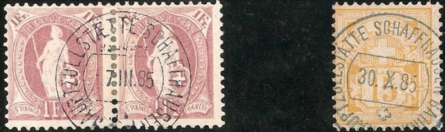 Stehende Helvetia 71 A Schaff10