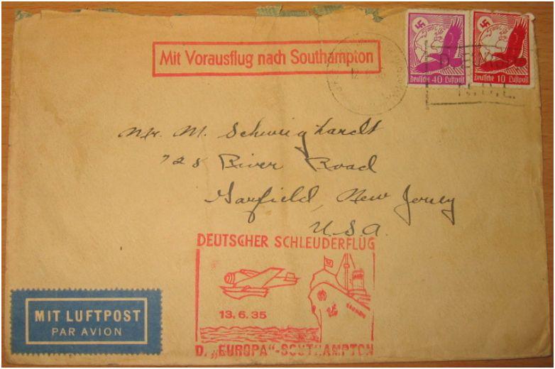 """Katapultpost ab S.S. """"Bremen"""" Schleu10"""