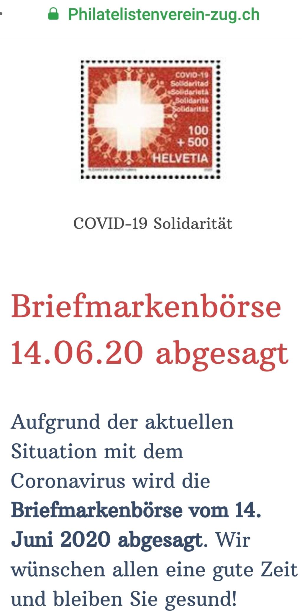 Aktuell - abgesagte Veranstaltungen Börsen Screen10