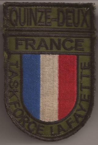 Les écussons de la Task Force La Fayette Quinze10