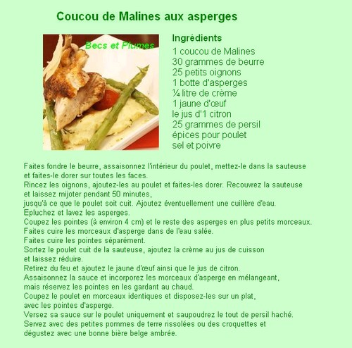 la Coucou de Malines Recett11