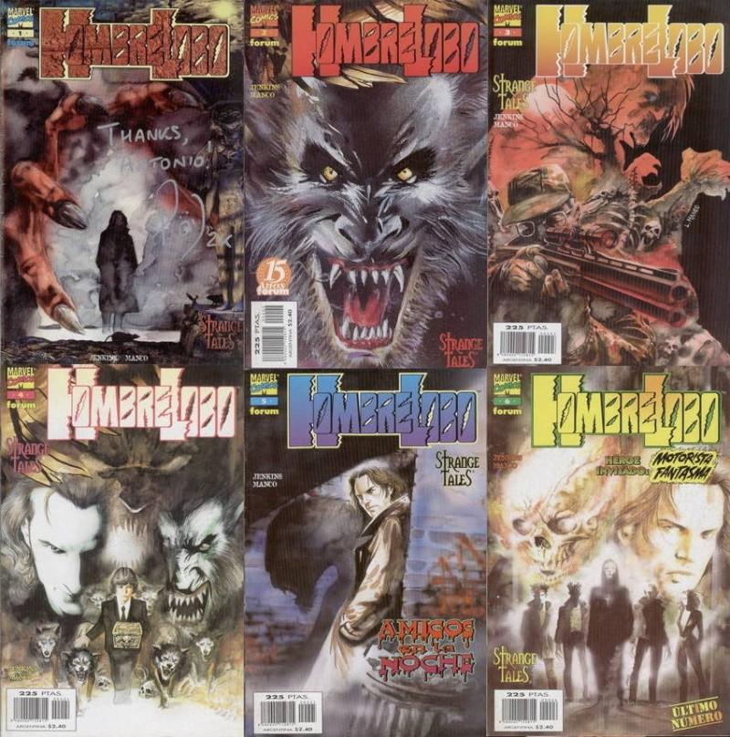 """""""Hombre Lobo"""" Strange Tales (Marvel Comics) Portad11"""