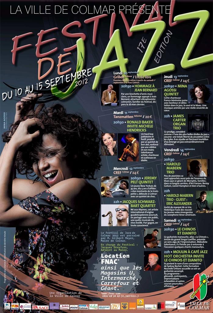 Festival de Jazz de Colmar 2012 - 17ème édition,Du 10 au 15 septembre 2012 Affich10