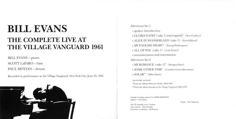 Bill Evans trio at the Village Vanguard 25.06.1961 June_210