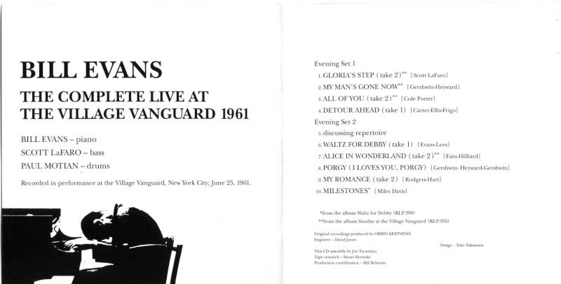 Bill Evans trio at the Village Vanguard 25.06.1961 June_211