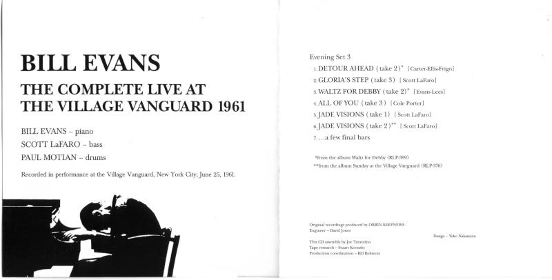 Bill Evans trio at the Village Vanguard 25.06.1961 June_212