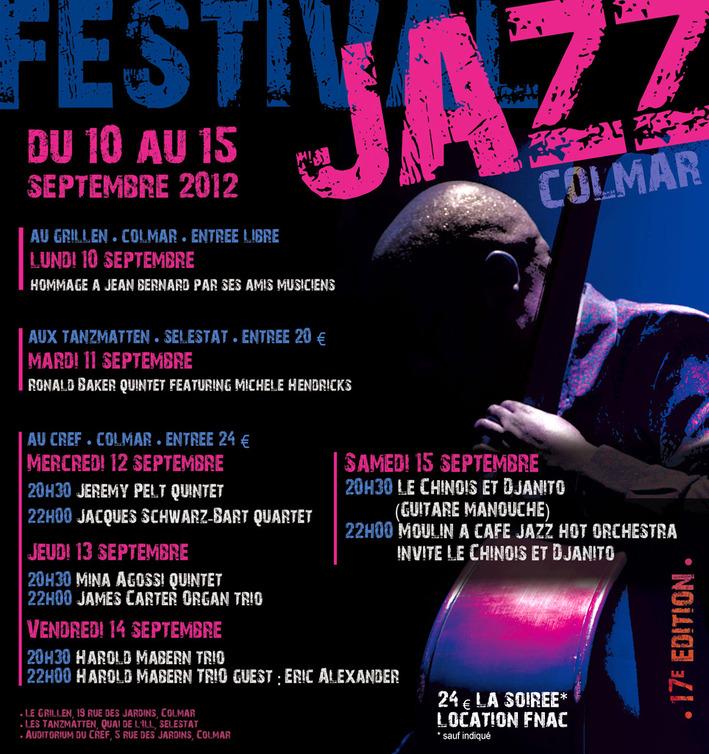 Festival de Jazz de Colmar 2012 - 17ème édition,Du 10 au 15 septembre 2012 Prog-j10