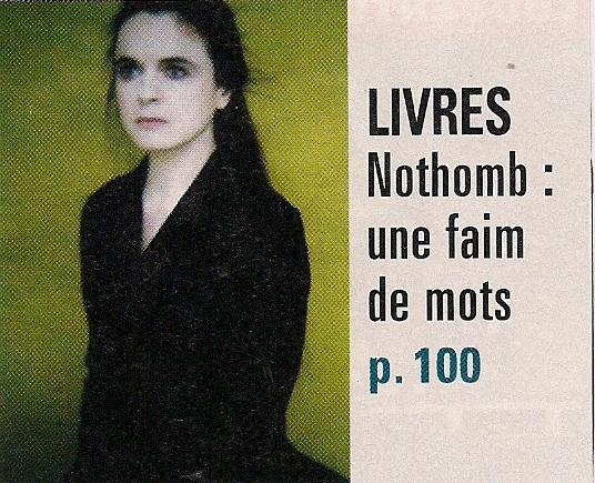 Amélie Nothomb l'épistolière -L'express.fr Lex110