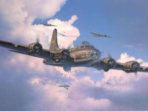 "B-17 Flying Fortress ""Memphis Belle"" in 1:48 von Revell. _1211"