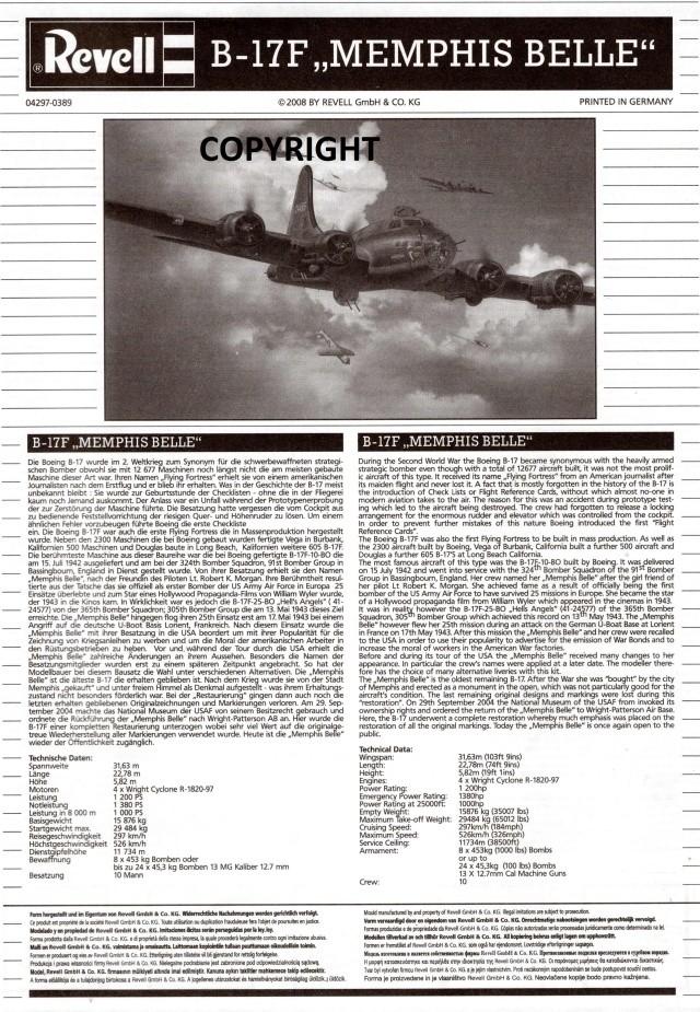 "B-17 Flying Fortress ""Memphis Belle"" in 1:48 von Revell. Img22010"