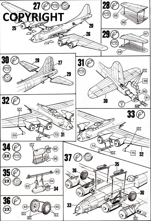 "B-17 Flying Fortress ""Memphis Belle"" in 1:48 von Revell. Img22510"
