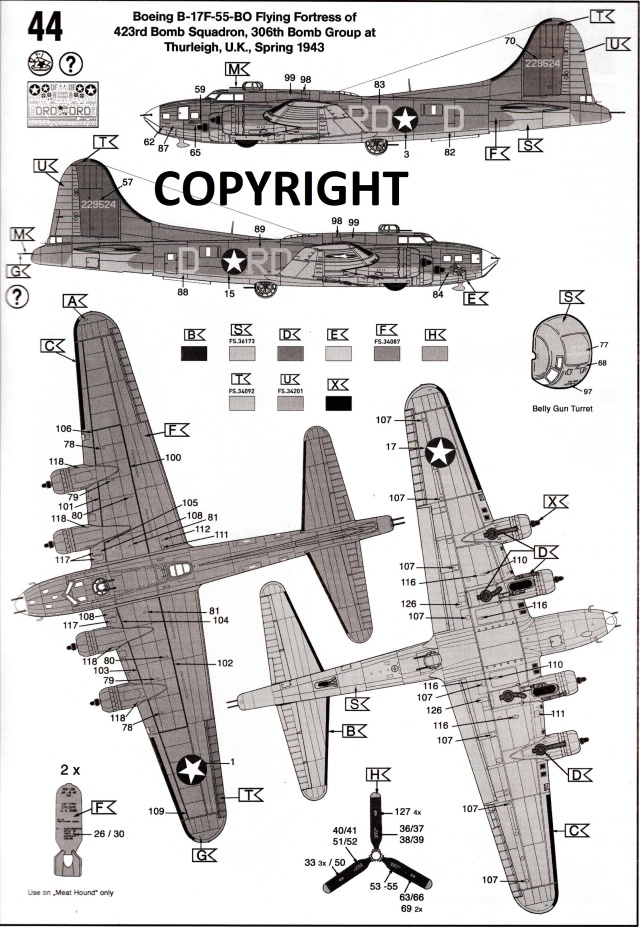 "B-17 Flying Fortress ""Memphis Belle"" in 1:48 von Revell. Img22810"