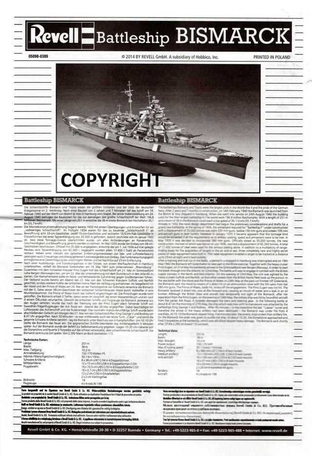 """Die """"Bismarck"""" in 1:700 von Revell. Img31510"""