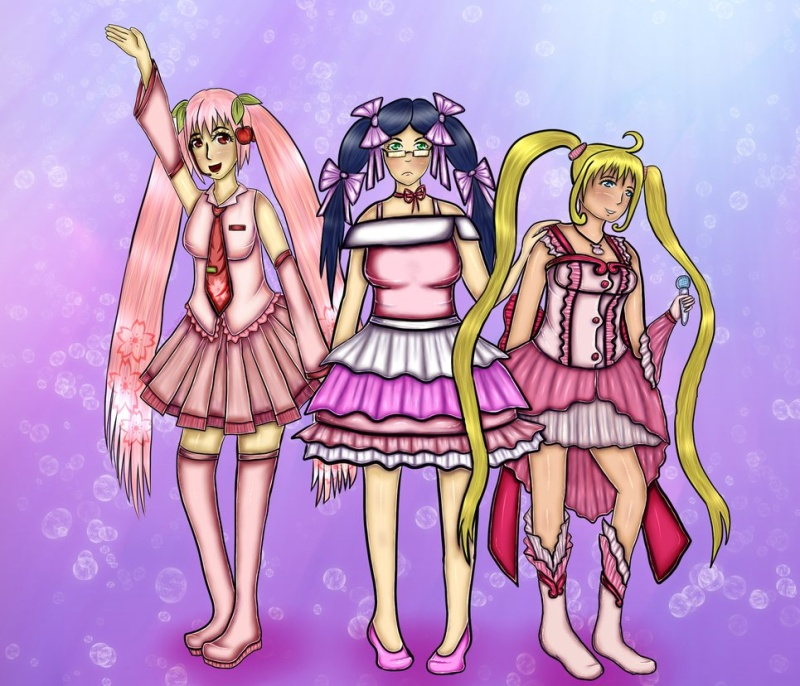 Voting Poll: MAI-CROSSOVER Drawing Contest on DeviantART Pinkpo10