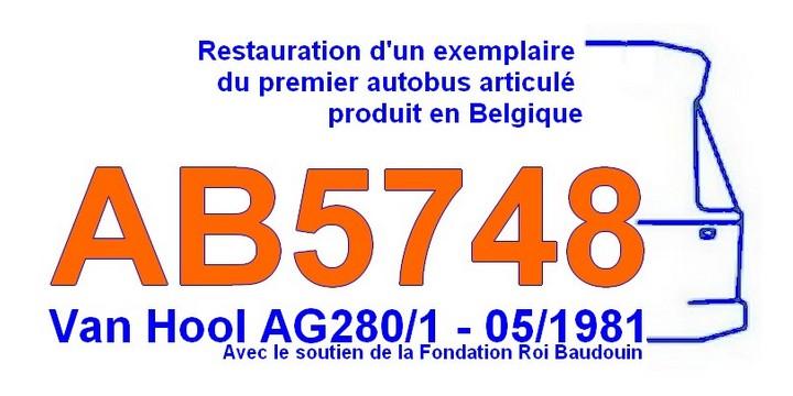 Rénovation d'un Van Hool AG280 de la Société Nationale des Chemins de Fer Vicinaux (5748) Ab574811