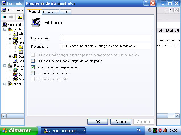 Mode Adminstrateur Windows XP 2016-010