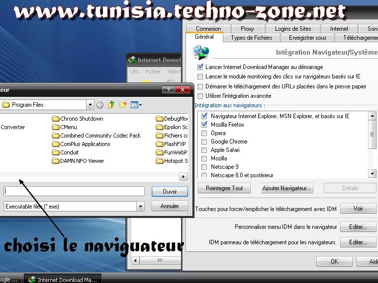 شرح طريقة اضافة متصفحات لبرنامج التحميل internet download manager 2_bmp17