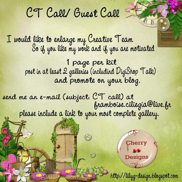 CT call et guest call CherryDesign Cherry16