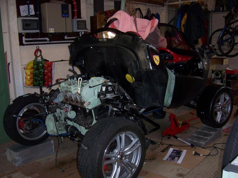 Dépose moteur modification des bras V1 en V2 suivant modèle SECMA 100_4131