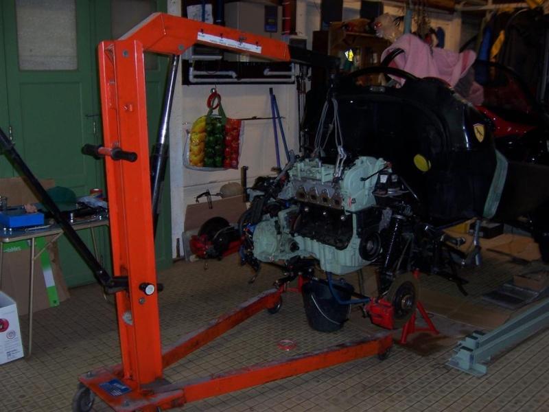 Dépose moteur modification des bras V1 en V2 suivant modèle SECMA 100_4226