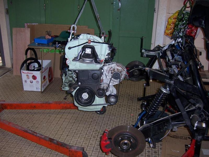 Dépose moteur modification des bras V1 en V2 suivant modèle SECMA 100_4227
