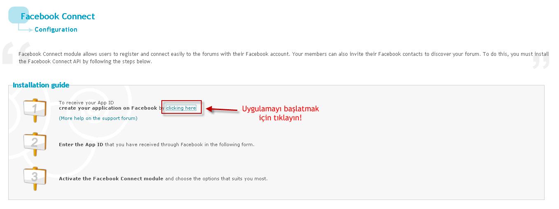Facebook bağlantı sistemi Start10