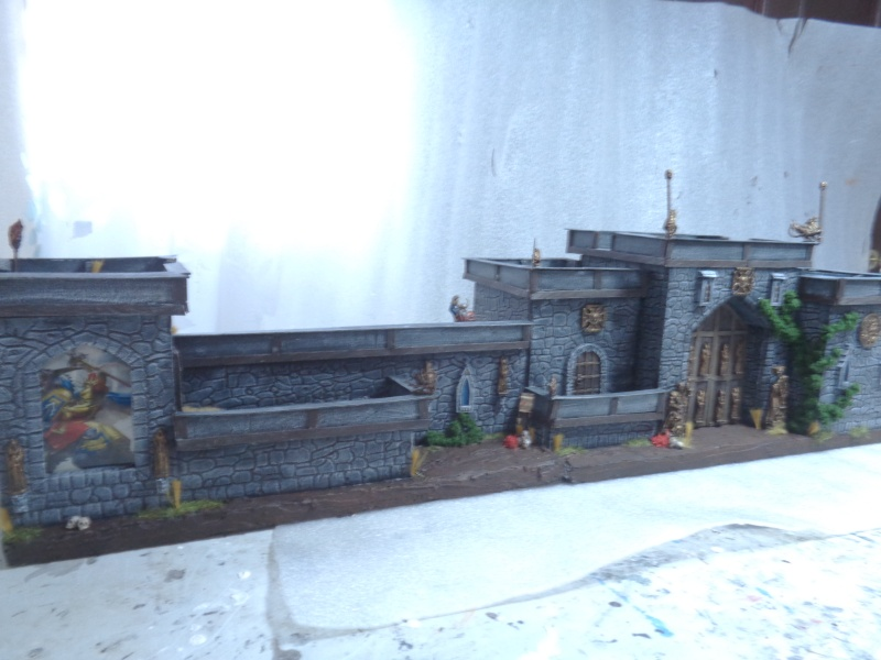 city walls and gatehouse set F210
