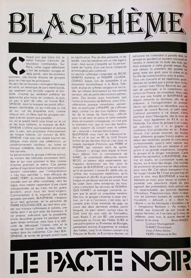 """BLASPHEME  """"Le Pacte Noir""""  (Enfer Mag N°7 - NOV 1983) Dsc_0311"""