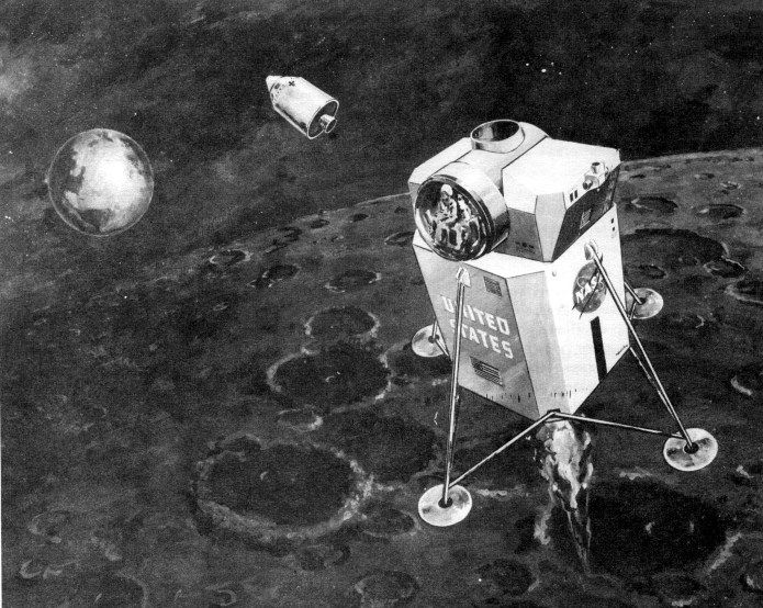 Lunar Excursion Module – Grumman – 1962 – 1/48éme par Tezio E92fd010