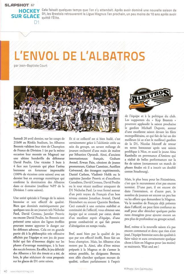 Articles Sur Les Albatros 2013 - 2014 Slapsh11