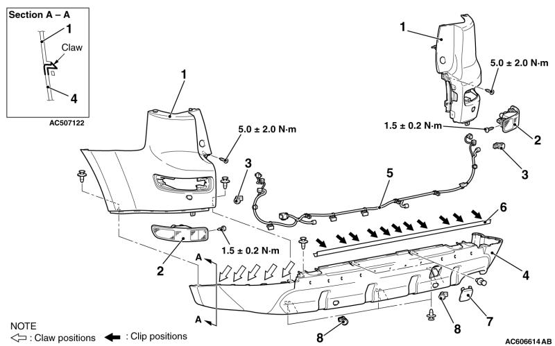 Smontaggio paraurti posteriore Out seconda serie Ac606610