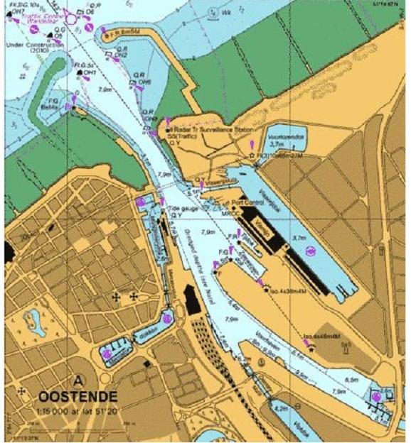 nouvelles carte du port d'Ostende Port_o10