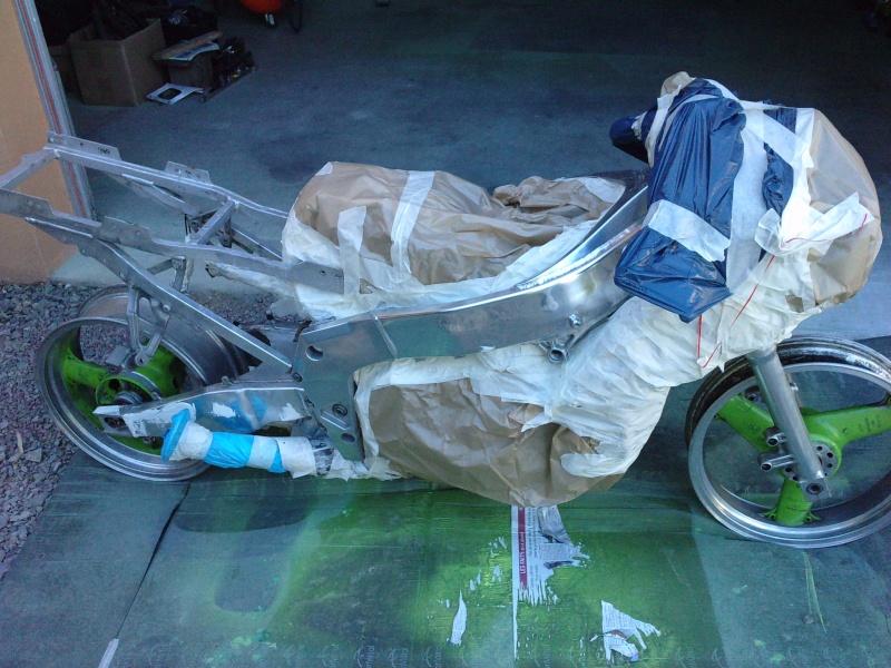 Ma verte en cours de resto peinture  P0709112