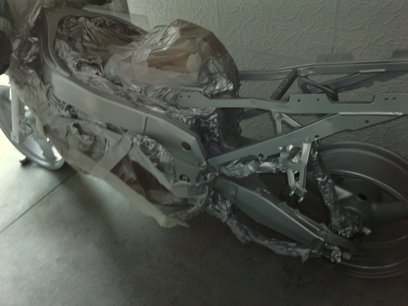 Ma verte en cours de resto peinture  P0709114