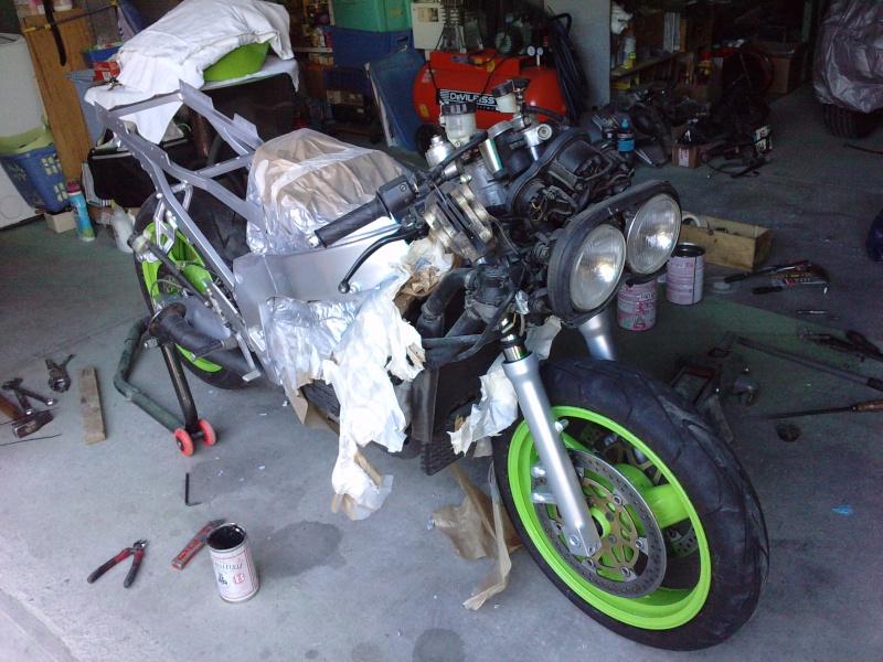 Ma verte en cours de resto peinture  P0809112