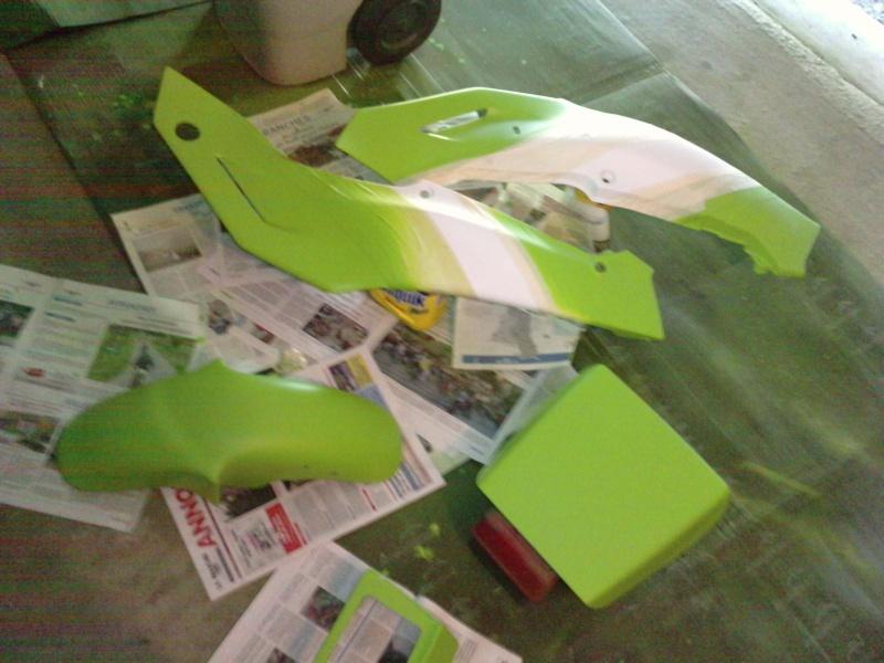 Ma verte en cours de resto peinture  P2208110