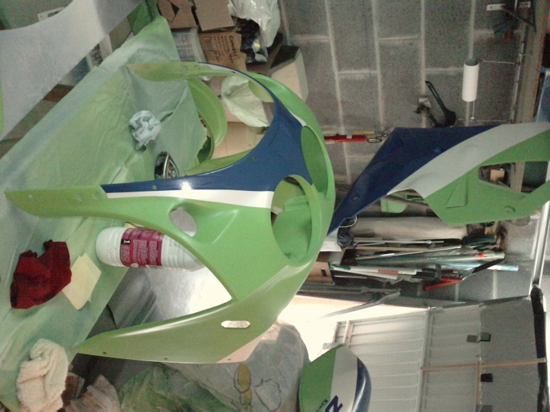 Ma verte en cours de resto peinture  P2408111