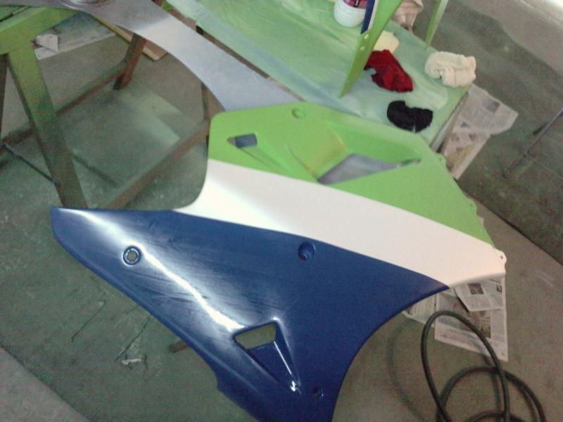 Ma verte en cours de resto peinture  P2408112